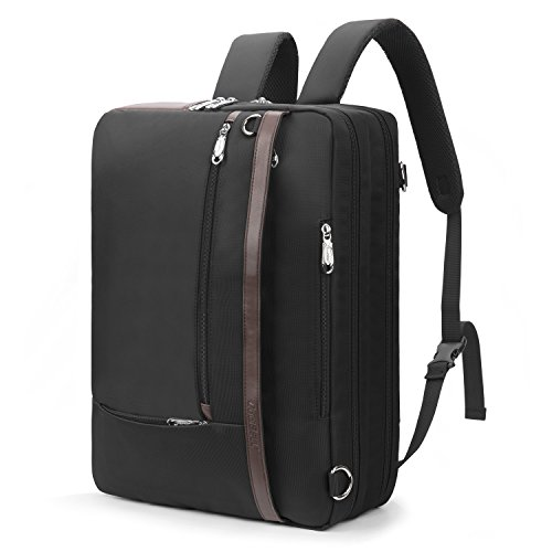 Convertable Bag (CoolBELL Convertible Backpack Shoulder bag Messenger Bag Laptop Case Business Briefcase Leisure Handbag Multi-functional Travel Rucksack Fits 17.3 Inch Laptop For Men / Women (Black))