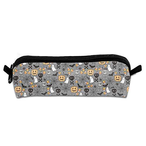 Nice Music Halloween Pumpkin Skull Grey Pencil Travel Makeup Jewelry Key Purse Coin Cash Bag Box Case Multi-Function Decor Ornament Decoration Accessory Office Pouch Zipper Pen Travel Kid]()