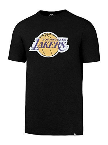 '47 Brand Los Angeles Lakers Unisex Club Primary Logo T-Shirt Medium Black