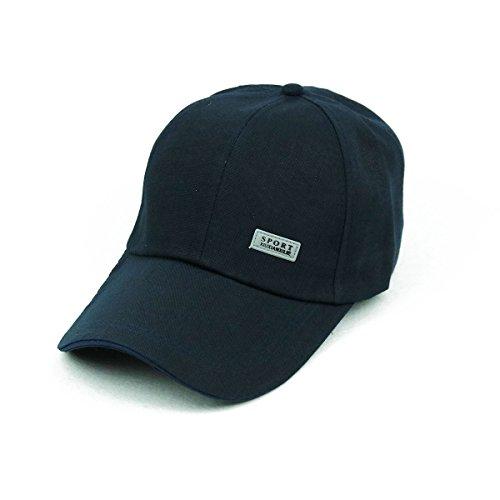 Navy Blue Brush Cotton Hat - 2