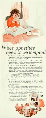 1927 Ad Pet Evaporated Milk Lucile Patterson Marsh Food Health Sick Child Bed - Original Print Ad from PeriodPaper LLC-Collectible Original Print Archive