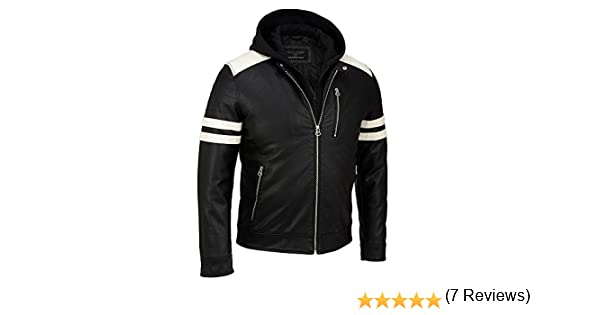 Wilsons Leather Mens Faux-Leather Moto Jacket W/ Storm Collar at Amazon Mens Clothing store: