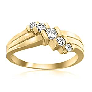 0.25 Ct. Ttw Diamond Channel Set Ring In 10K Yellow Gold