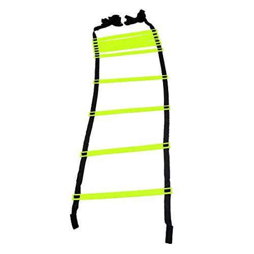GSI Speed Agility Ladder Track and Field Equipment for Sports Training and Soccer Football Tennis Drills (10 Rungs) (Pack of 1)