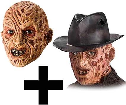 MFD Freddy Krueger máscara + Sombrero de Fedora para Adultos ...