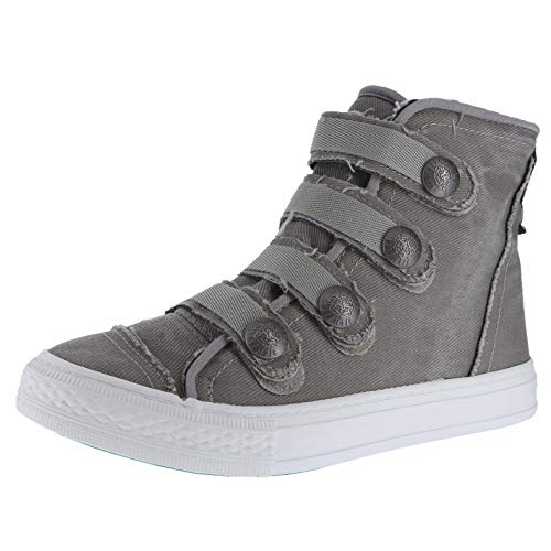 Blowfish Kyan Drizzle Grey Hipster Smoked Tw Womens High-Top Sneaker Size 6.5M