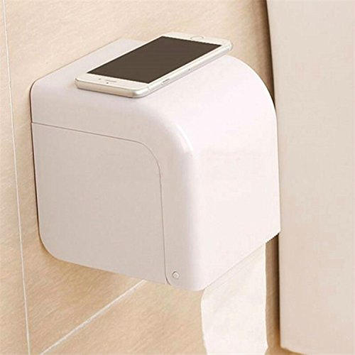 Creative Cup Tissue Box Toilet Paper Holder F Roll Holders Suction Attaches To Tile, Glass Or Any Other Smooth Surface