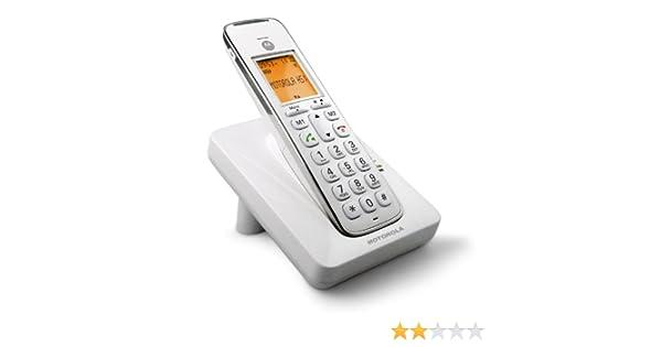 Motorola CD201 - Teléfono inalámbrico, color blanco (importado): Amazon.es: Electrónica