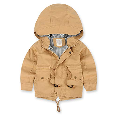 Happy childhood Little Boys Hooded Warmth Spring Autumn Jackets Hiking Windbreakers jacket