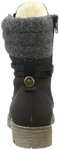 Rieker Women's 78531 Ankle Boots, Beige, 3.5 UK Black (Schwarz/Anthrazit 00)