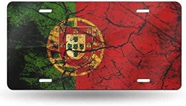 Blake55Albert Vintage Portugal License Plate Frame,Front License Plate Decorative,License Plate Cover Metal,Vanity Tag for Vehicles,Auto Car Hoder