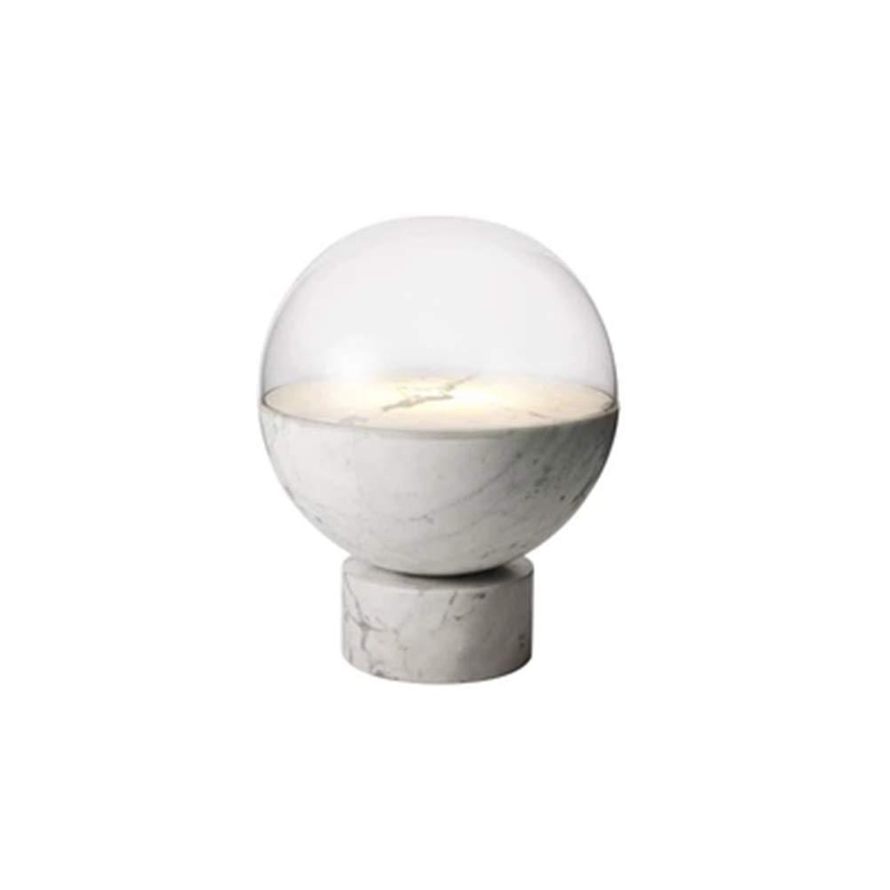 テーブルランプポストモダンジャズホワイト大理石のデスクランプクリエイティブリビングルームアートガラス読書ランプボールデザイナー寝室 B07N6H31QZ