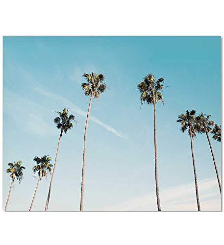 Palm Tree Print, Palm Tree, Palm Tree Photography, Palm Tree Art Print, Tropical leaf print, Tropical Wall Print, Palm Tree Wall Art, California Print, California Art, Tropical Wall Art, Blue, 8 x 10