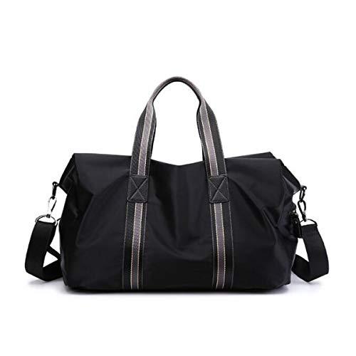 ZHICHUANG Duffel Bag, Waterproof Short-Distance Travel Bag, Suitable for Fitness, Travel, etc, Black Large Size: 43 20 28cm Travel Duffel Bag for Men and Women (Color : Black) ()