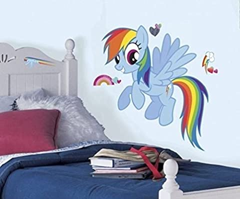 Lunarland MY LITTLE PONY RAINBOW DASH Giant Wall Decal MLP Ponies Room Decor Stickers NEW (Rainbow Dash Wall)