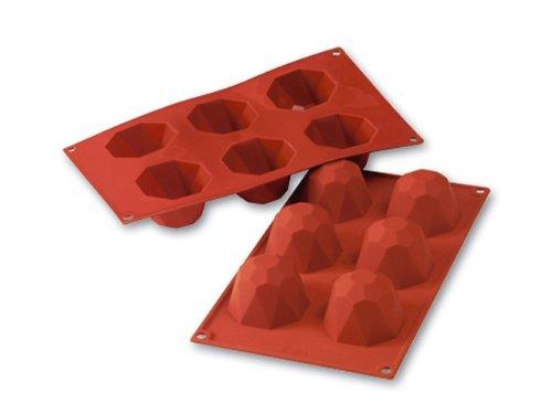 (Professional Silikomart Uniflex Large Diamond Silicone Mold Baking Pan)