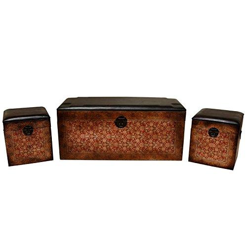 Oriental Furniture Olde-Worlde European Storage Boxes (Set of 3)