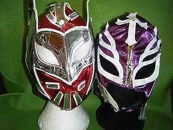 rojo sin cara lila Rey Mysterio Máscaras De Lucha Libre WWE Disfraz Disfraz Juego de rol