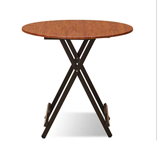 BETTY Tables Solid Wood Folding Table, Kitchen Catering and Coffee Coffee Table Outdoor Camping Round Folding Table Computer Work Desk (Color : D) ()