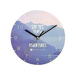 Sendke Modern European and American Creative Fun Decorating The Living Room Wall Clock Wall Clocks Digital Wall Clock Green Stereo Mute Clock