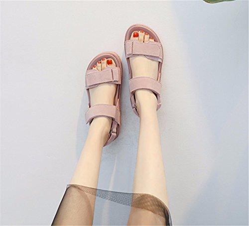 Moda Retro Sandalias Toe La Minimalista Gray Ymfie SxwqAOPP