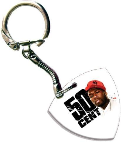 Amazon.com: 50 Cent Bass Pick Keyring Llavero banda Logo Púa ...