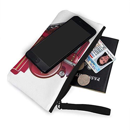 Wrist With Purse Red Canvas Cash Fgregtrg Wristlets Cellphone Coin Strap Cartoon Bag Makeup Train 4PAnx7Y6wq