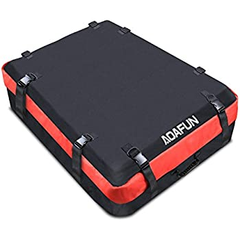 Aoafun Car Roof Bag Cargo Bag:Storage Box Roof Top Bag For Travel ,Super Strong And Extra Waterproof Tarpaulin Material(1680D), For Any Car With  Roof Rails