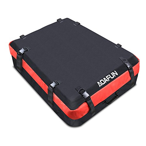 - AOAFUN Car Roof Box Waterproof Cargo Bag ,1680D Strong Roof Bags Storage with Wide Straps for Best for Traveling Cars Vans SUVs (10 Cubic Feet)