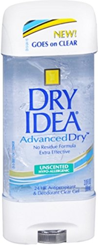 Dry Idea Advanced Dry Unscented Antiperspirant & Deodorant Clear Gel 3 oz (Pack of 7)