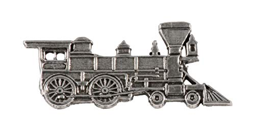 Train Engine Locomotive Pewter Lapel Pin, Brooch, Jewelry, A245