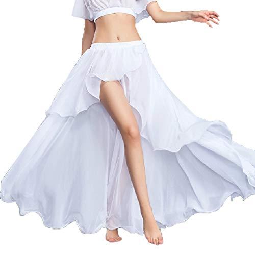 du Soie Jupe Performance Gamme de Vtements Haut MoLiYanZi Big Ventre du Mousseline Danse Femme Ventre de de de Swing Danse Divis white HndZgq7