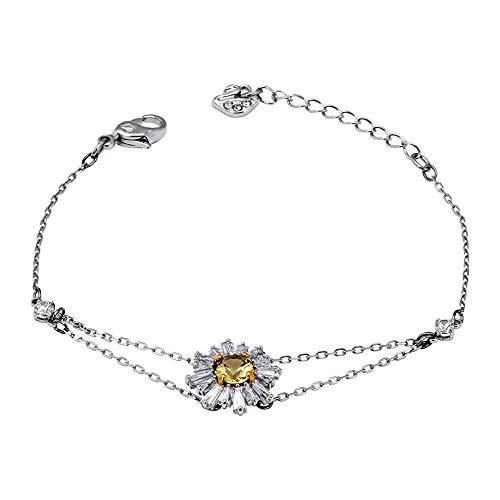 (Swarovski Crystal Yellow Sunshine Bracelet)