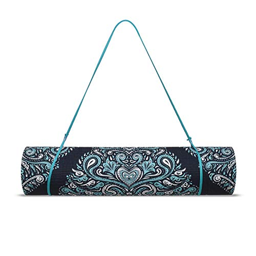 Trideer High-Density Yoga Mat, Premium Printed 1/4″ Extra Thick Non-Slip Eco-Friendly Anti-Tear 6mm Floor Pilates Exercise Mat for Yoga, Workout, Fitness with Carrying Strap (Loving Mandala) Review