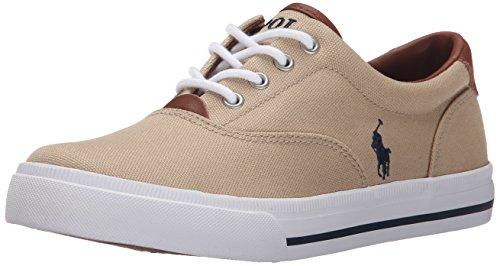 Polo Ralph Lauren Kids Vaughn Ii Sneaker (Toddler/Little Kid/Big Kid), Khaki/Navy, 13 M US Little Kid