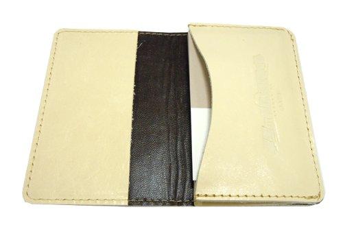 Garugantia genuine leather card case white green star (japan import) by Rakusento