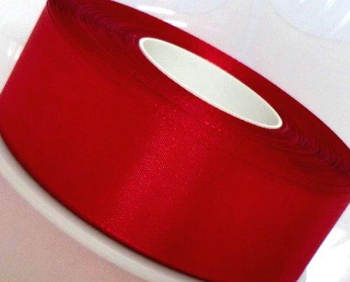 SCHLEIFENBAND ROT 50m x 40mm Geschenkband DEKOBAND Taftband Dekorationsband