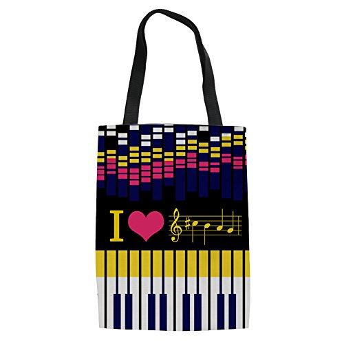 Music de 14 Bolso mujer 3 lino compra Showudesigns Music de reutilizable para la wZxvqwzIn