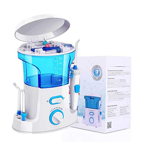 Huang Water Flosser,Household Electric red Teeth Cleaning Teeth Floss Portable Tooth Cleaning Washer Electric Dental Countertop Oral Irrigator for Teeth,White