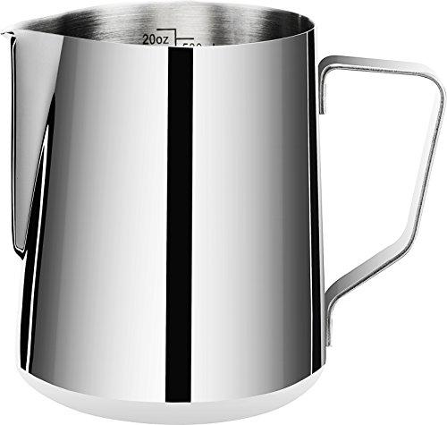 Cheap Espresso Steaming Pitcher 20 oz,Espresso Milk Frothing Pitcher 20 oz,Coffee Milk Frothing Cup,Coffee Steaming Pitcher 20 oz/600 ml