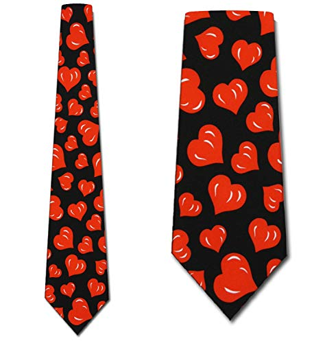 - Hearts TIES Valentines Day Men's Neck tie heart