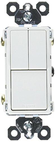 Rocker Combo Single (Legrand - Pass & Seymour radiant RCD113WCC6 Combination Rocker Wall Switch: 15A Single Pole/Single Pole & 3-Way, White)