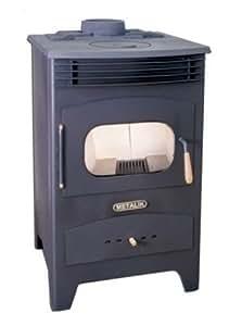 Para Estufa Chimenea quemador de leña hierro fundido parte superior de combustible sólido metalik-art: Amazon.es: Bricolaje y herramientas
