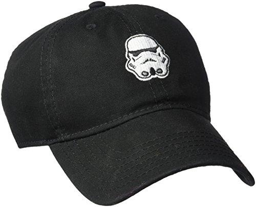 Star Wars Caps (Star Wars Men's Stormtrooper Embroidery Dad Baseball Cap, Black, One Size)