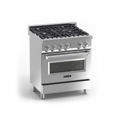 Z Line E30-40 30'' 4.0 cu.ft. 4 Gas Burner/Electric Oven Range, Stainless Steel by Z-Line