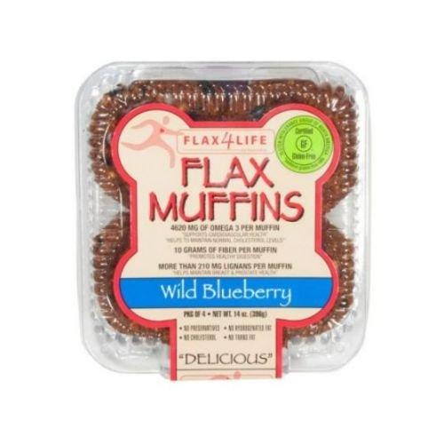 Flax Muffins (Flax4Life Muffins, Flax, Wild Blueberry)