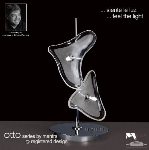 Otto table lamp 2 light polished chrome amazon kitchen home otto table lamp 2 light polished chrome mozeypictures Image collections