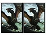 100 Another Rough Day Dragon Deck Protectors Max Protection Shuffle Tech Art Sleeves 2-Packs - Standard Magic the Gathering Size Black