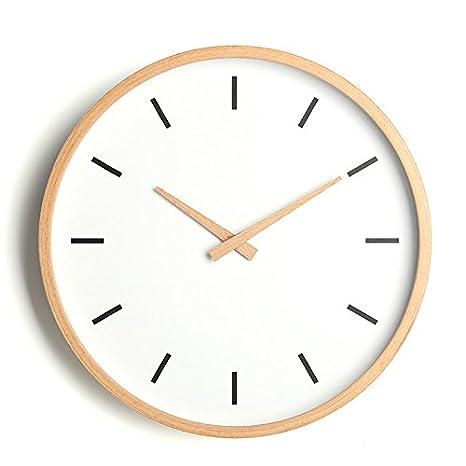 Il Nordic orologio da parete in legno massiccio soggiorno moderno ...