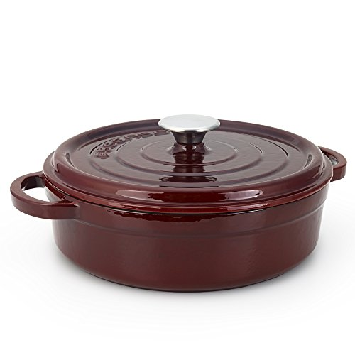Essenso Grenoble 3 Layer Enameled Cast Iron Braiser, Cassero